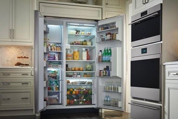 water inside sub zero refrigerator