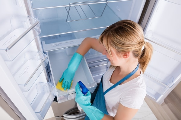 how to clean a KitchenAid refrigerator